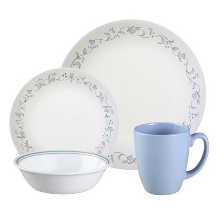 16 Piece Dinnerware Set Hunter Deer Pattern Plates Square Dishes