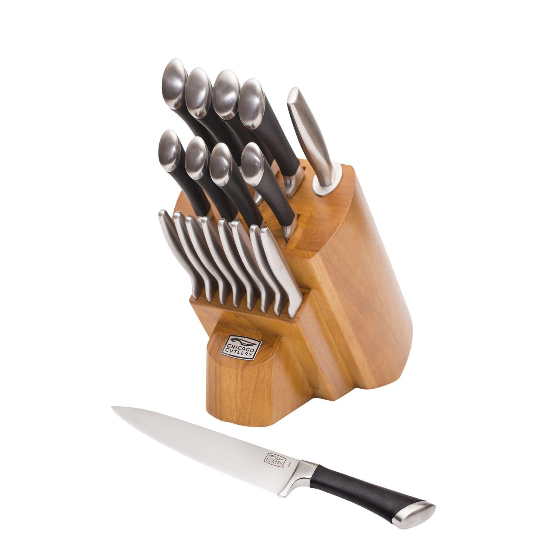 Chicago Cutlery Fusion 18 Pc Block Set World Kitchen